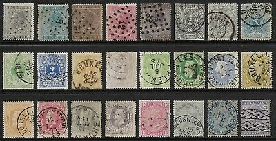 BELGIUM 1865-83 Selection Used (Cat £270+)