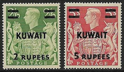 KUWAIT 1948 KGVI High Values Selection SG 72-73 MH/* (Cat £19)