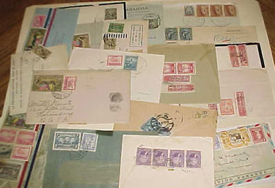 ECUADOR   21  SMALL COVERS 1930's MOSTLY TO USA INCLUDE 2 REGISTERED,MOURNING