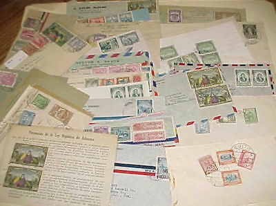 ECUADOR   39  SMALL COVERS 1940's MOSTLY TO USA INCLUDE  REGISTERED