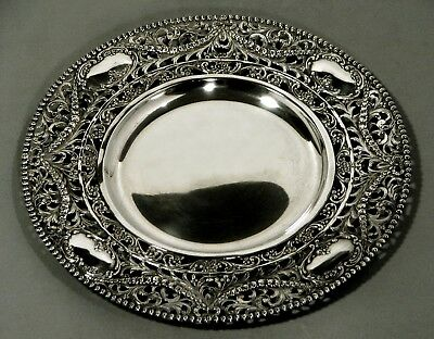 German Silver Dinner Plate           c1890           * Signed *