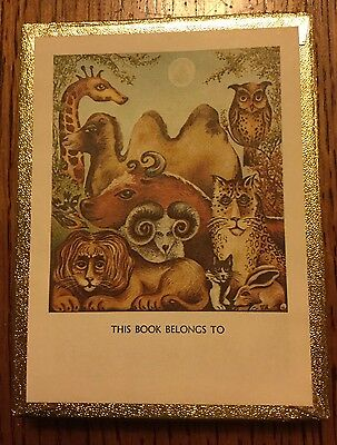 50 Antioch Bookplates - Animals - This Book Belongs To