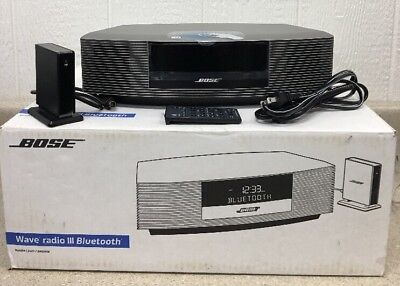 bose wave radio iii 3 bluetooth music adapter bundle clock. Black Bedroom Furniture Sets. Home Design Ideas