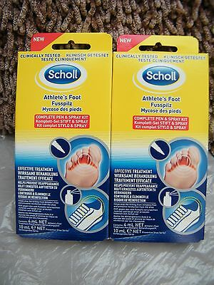 Scholl Athlete's Foot Complete Pen and Spray Kit x2 08/18