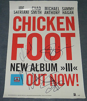 Chickenfoot Signed  Poster
