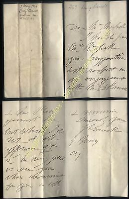 1849 LADY BOSWELL autograph letter & Legal Case Letter from James Newton