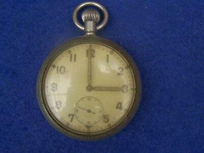 Bravingtons WW2 Military GS/TP Pocket Watch in good working order but well used.