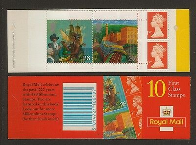 GB Stamps: Decimal Machin Barcode Booklet HBA1 with Cylinder Number