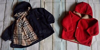 Burberry Baby Boys Designer 2 In 1 Coat 9 Months Good Condition
