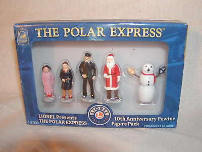 Lionel 6-37183 Polar Express 10th Anniversary Pewter Figure Pack New MIB O-027