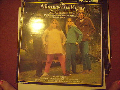 Mamas and Papas,Best of,vinyl lp.VG