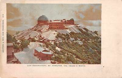 Mt Hamilton California Lick Observatory Birdseye View Antique Postcard K72735
