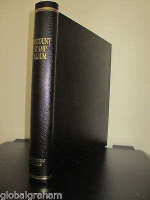 Martin Mills Black Viscount Standard Springback Stamp Album +75 Leaves Unused!