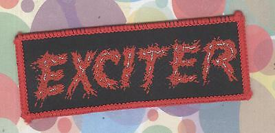 Exciter oblong logo vintage 1980s SEW-ON PATCH