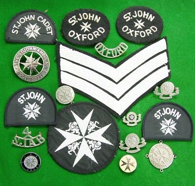 Lot of St Johns Ambulance Metal and Cloth Badges