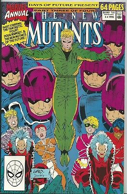 New Mutants Annual #6 (1990) Marvel (64 Pages) Nm-