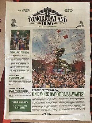 Tomorrowland Belgium Newspaper 2017 - 23 July - Sunday