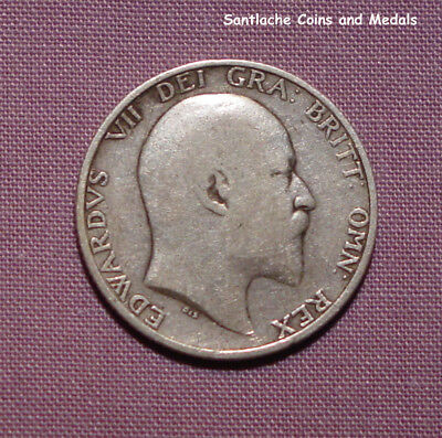 1905 KING EDWARD VII SILVER SHILLING - Key Date & Low Mintage