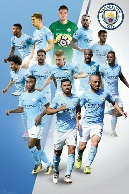 Manchester City FC Poster - Players 17/18 - New Man City Football poster SP1471