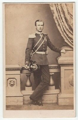 CDV: Queen Victoria's son-in-law PRINCE LOUIS of HESSE in MILITARY UNIFORM
