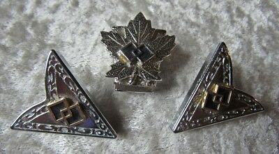 Maple Leaf Double Cube Western Collar Tips and Bolo Clip
