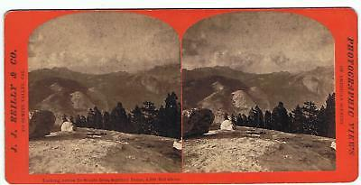 Stereoview By J.j Reilly - Yosemite Valley  - Looking Across From Sentinel Dome