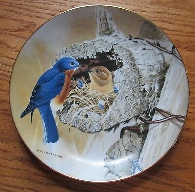 """The Eastern Bluebird 8.5"""" Collector's Plate by Glen Loates 1986"""