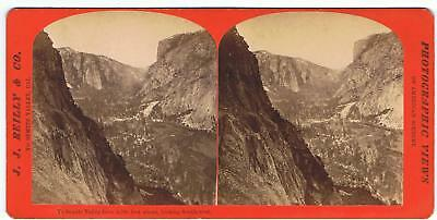 Stereoview By J.j Reilly - Yosemite Valley From 2,500 Ft Above Looking S.w