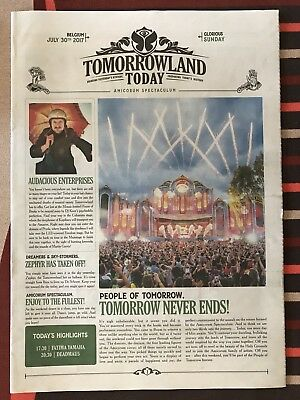 Tomorrowland Belgium Newspaper 2017 - 30 July - Sunday