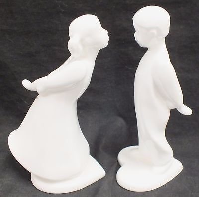 Pair of ROYAL DOULTON IMAGES THE KISS BOY & GIRL Bone China Figurines  - W45