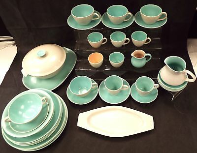 POOLE 40 Pieces Twintone Tea/Coffee & Dinner Set Items Made In England - R30