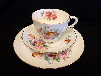 George Jones Crescent China Junetime Teacup, Saucer and Teaplate  Exc. Cond.