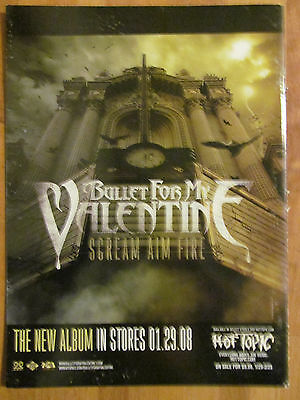 Bullet For My Valentine, Scream Aim Fire, Full Page Promotional Ad