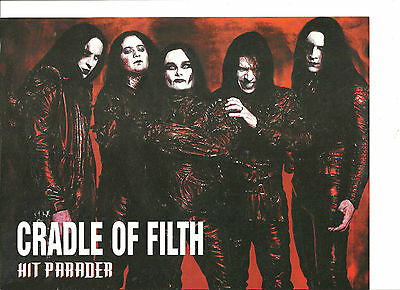 Cradle of Filth, Full Page Pinup, Double Sided, Andrew W.K.