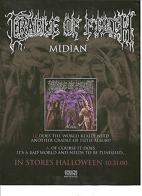 Cradle of Filth, Midian, Full Page Promo Ad