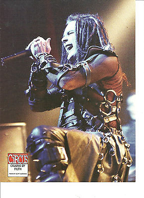 Cradle of Filth, Full Page Pinup, Double Sided, Dope