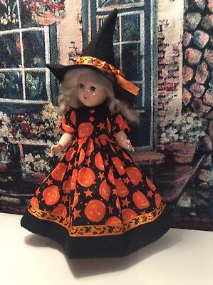 "DOLL CLOTHES For 14"" Ideal P90 Toni Doll ""Halloween Dress and Hat"""