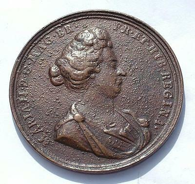 """Mary Ii (William Ii & Mary) Bronze 2"""" Memorial / Death Medal - Lot 245"""