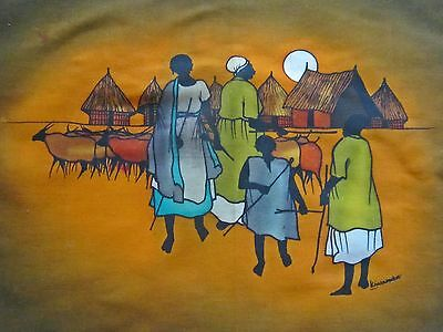 Signed Original African Art