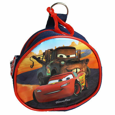 Children's Character PVC Front Coin Wallet Purse with Clip - Cars