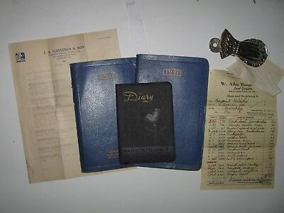 ALLEGHENY COUNTY PA-3 Handwritten Diaries-Margaret Morris Holdship Family-1940's