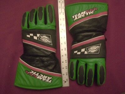 Team Arctic Cat Leather Snowmobile Gloves-Unisex Xl  Rare Arcticwear Winter
