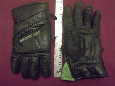 Arctic Cat Leather Snowmobile Gloves- Xxl Rare Arcticwear Finger Stiffeners