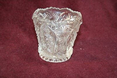 Collectible Octagon Pattern Clear Toothpick Holder - Signed Imperial Glass