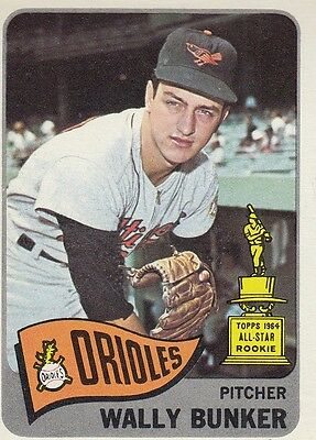 Topps 1965 #290 Wally Bunker-Baltimore Orioles