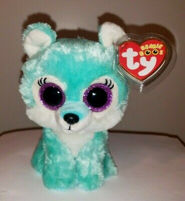 "Ty Beanie Boos ~ JADE the 6"" Wolf ~ 2017 Great Wolf Lodge Exclusive ~NEW IN HAND"