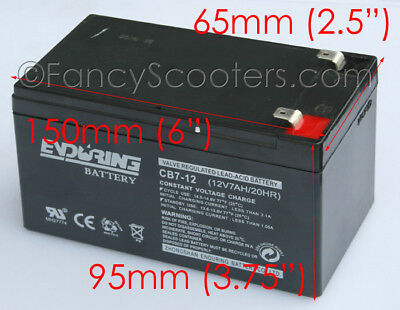 Enduring Battery Cb7-12 12V7Ah/20Ah For Razor Scooters Rechargeable Great Qualit
