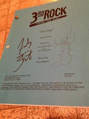 3rd Rock From the Sun Vintage SIGNED 2000 TV SCRIPT John Lithgow French Stewart