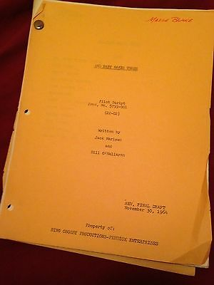"Madge Blake's PERSONAL 1964 TV SHOW SCRIPT ""BABY MAKES THREE"" Joan Blondell"