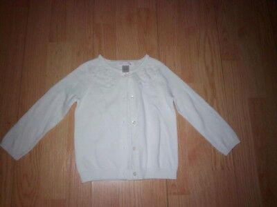 Janie & Jack Little Girls White Embroidered Sweater Size 18-24 Months